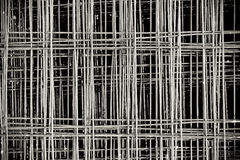 Los paneles atados del acero de refuerzo del Rebar Fotos de archivo libres de regalías