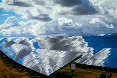 Los paneles de baterías solares Fotografía de archivo