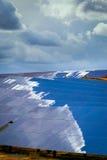Los paneles de baterías solares Fotos de archivo libres de regalías