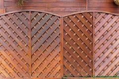 Los paneles de cercado de madera Fotos de archivo libres de regalías