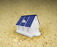 Los paneles de energía solar Fotografía de archivo libre de regalías