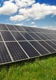 Los paneles de energía solar Imagen de archivo