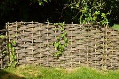 Los paneles de la cerca del zarzo Imagen de archivo