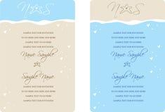 Los paneles de la invitación Imagen de archivo