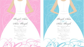 Los paneles de la invitación de la boda Imágenes de archivo libres de regalías