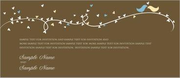 Los paneles de la invitación de la boda Fotos de archivo libres de regalías