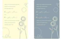 Los paneles de la invitación de la boda Fotografía de archivo