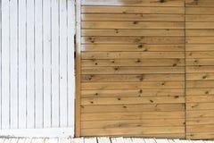Los paneles de madera blancos viejos Imagen de archivo