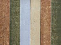 Los paneles de madera coloridos Foto de archivo