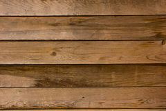Los paneles de madera horizontales Foto de archivo