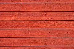 Los paneles de madera rojos viejos Foto de archivo libre de regalías