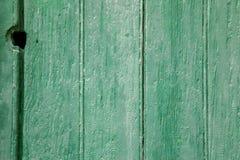 Los paneles de madera verdes Fotografía de archivo