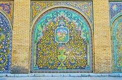 Los paneles decorativos en Golestan, Teherán Fotos de archivo libres de regalías