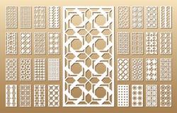 Los paneles del corte del laser ilustración del vector