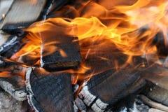 Los paneles en el fuego Fotografía de archivo