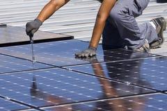 Los paneles fotovoltaicos Foto de archivo libre de regalías