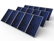 Los paneles fotovoltaicos Fotografía de archivo