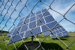 Los paneles fotovoltaicos Imagen de archivo