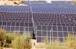 Los paneles polares de la energía eléctrica Foto de archivo libre de regalías
