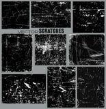 Los paneles rasguñados Imágenes de archivo libres de regalías