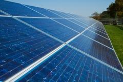 Los paneles solares Imagen de archivo