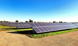 Los paneles solares Fotografía de archivo