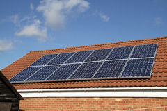 Los paneles solares. Fotografía de archivo