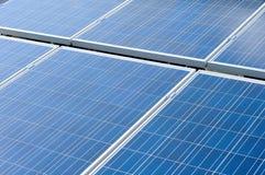 Los paneles solares azules Fotografía de archivo libre de regalías