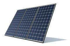 Los paneles solares contra un fondo blanco Foto de archivo