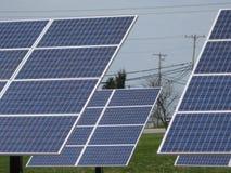 Los paneles solares en Vermont Imágenes de archivo libres de regalías