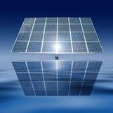 Los paneles solares flotantes Fotografía de archivo