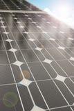 Los paneles solares - fotovoltaicos Foto de archivo libre de regalías