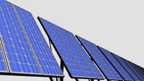 Los paneles solares múltiples, versión del bosquejo para las presentaciones e informes representación 3d Foto de archivo