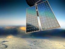 Los paneles solares por satélite libre illustration