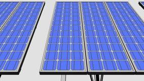 Los paneles solares, versión de la historieta para las presentaciones e informes representación 3d Imagen de archivo