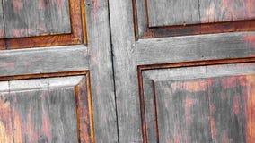 Los paneles y tableros de madera de una casa rural, Italia almacen de metraje de vídeo