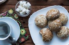 Los panes de jengibre dulces Imágenes de archivo libres de regalías