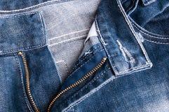 Los pantalones con la cremallera se abren Foto de archivo libre de regalías