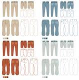 Los pantalones forman el conjunto   Libre Illustration