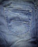 Los pantalones vaqueros mueven hacia atrás el bolsillo Imagen de archivo libre de regalías