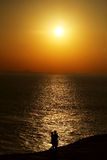 Los pares de la puesta del sol Imagenes de archivo