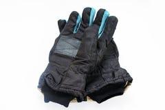 Los pares de los guantes se cierran para arriba Foto de archivo