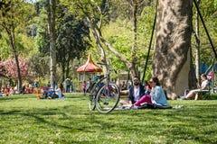 Los pares en el Bebek parquean en Estambul, Turquía Fotografía de archivo libre de regalías