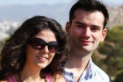 Los pares hacen la visita tur?stica de excursi?n en Atenas Imagen de archivo libre de regalías