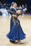 Los pares no identificados de la danza realizan programa europeo estándar adulto sobre campeonato abierto de la danza Festival-20 Imagen de archivo libre de regalías