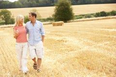 Los pares que recorrían juntos con verano cosecharon F Fotos de archivo