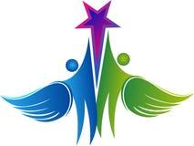 Los pares vuelan el logotipo de la estrella Imagen de archivo