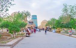Los parques en Khiva Fotos de archivo libres de regalías