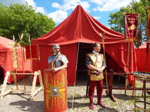 Los participantes de los tiempos y de las épocas internacionales del festival Roma antigua Imágenes de archivo libres de regalías