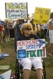 Los partidarios del cuidado médico se reúnen en Los Ángeles imagenes de archivo